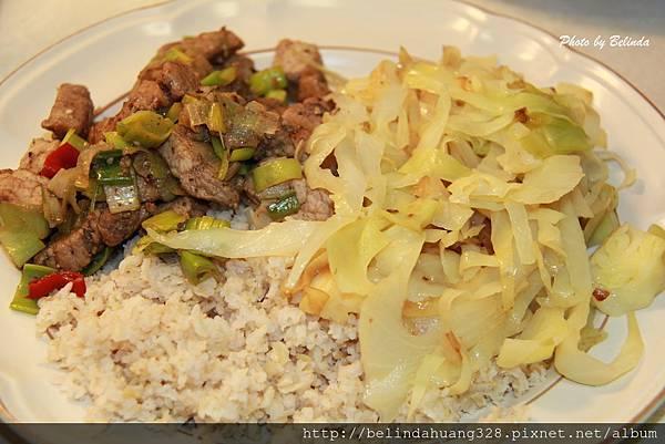 韮蔥炒鹹瘦豬肉套餐