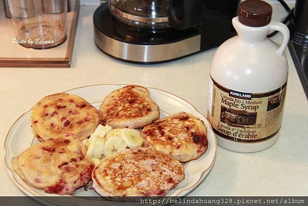 20140416覆盆莓煎餅Raspberry Pancakes~1