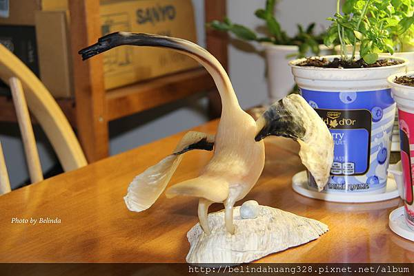 可愛的鶴鳥雕刻品Adorable Crane Carvings~2