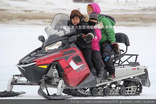 20140517北極圈雪地電動摩托車小孩兜風