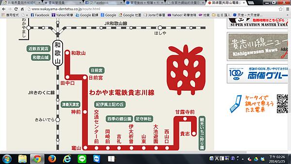 小玉電車路線圖