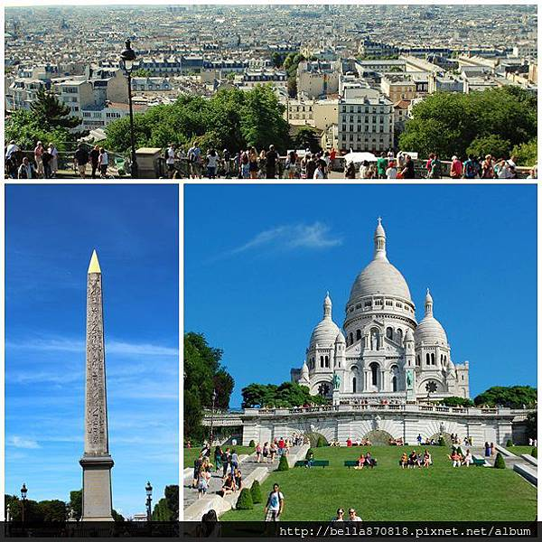 ★魅力歐洲巴黎。蒙馬特聖心堂。協和廣場。