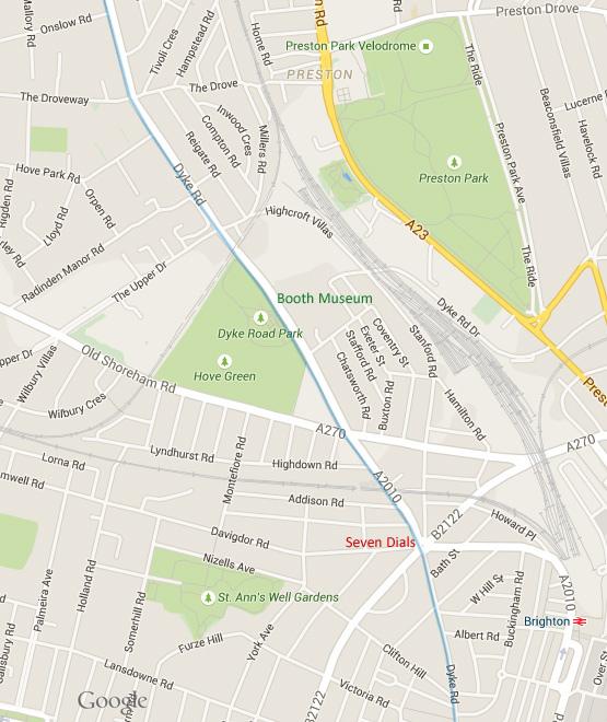 [英國] Devil's Dyke (上):地圖