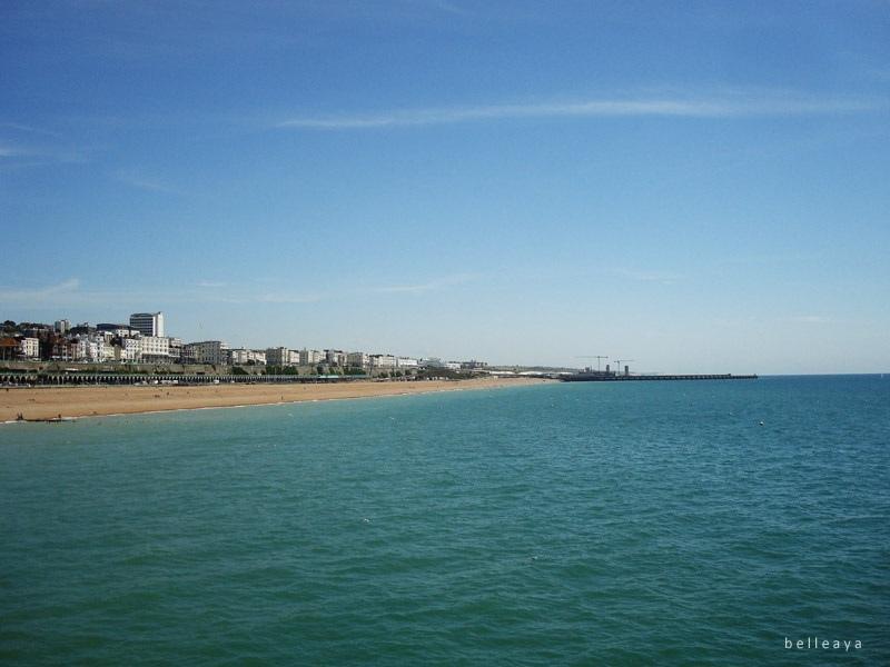 [英國] 布萊頓 Brighton Pier 遙望 Marina