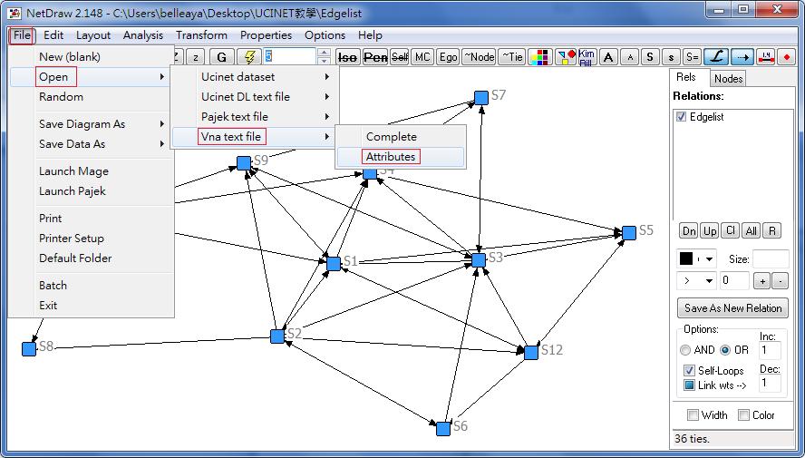 教學] [分析] UCINET入門教學與學習分析@ B E L L E A Y A