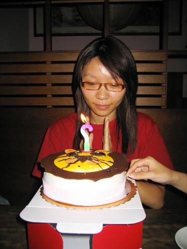 與平時一樣的聚會竟然出現蛋糕