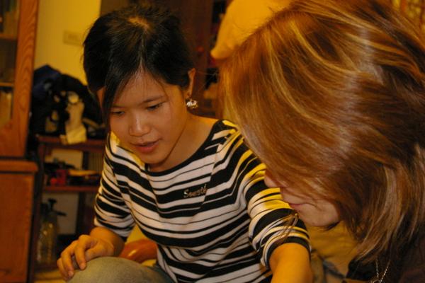 小美女Candy和JJ的頭髮