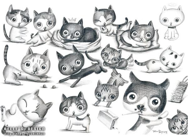 20070918-小貓素描插畫