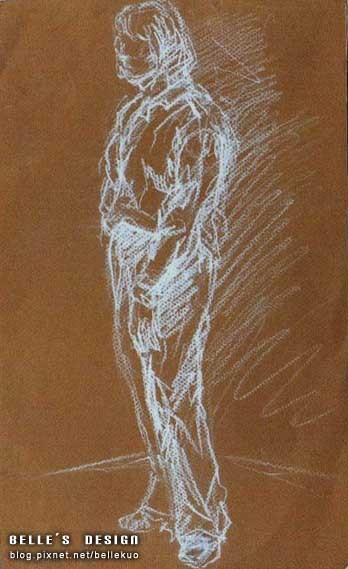 復興美工高二-全開素描人物速寫