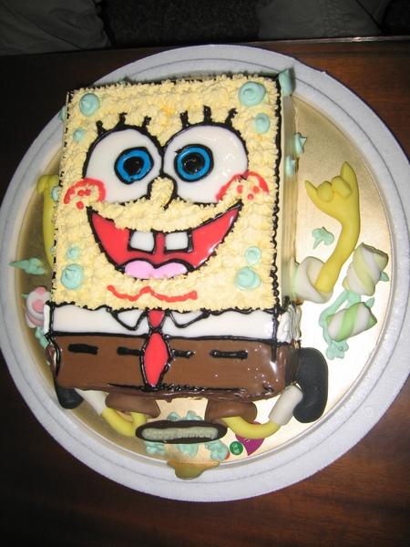 竟然是海綿寶寶蛋糕
