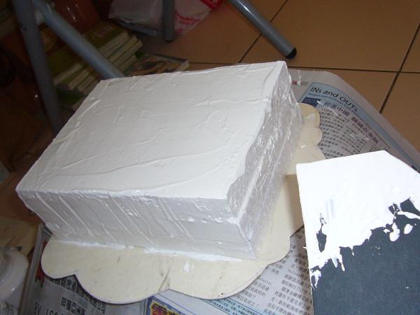 假蛋糕3-抹假奶油