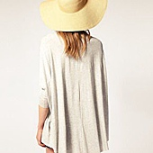 asos loose drape long sleeve top black - 3