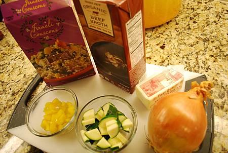櫛瓜甜椒庫司庫司 Zucchini Bell Pepper Couscous