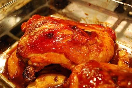 蒜香烤雞腿&迷迭香薯條 Garlic Chicken & Rosemary Potato