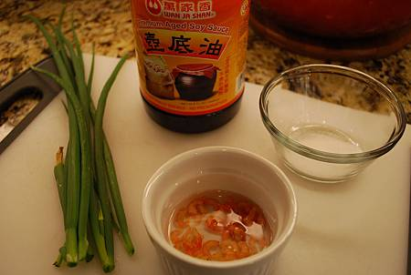 開陽蔥油拌麵 Noodles w/ Scallion and Small Shrimps