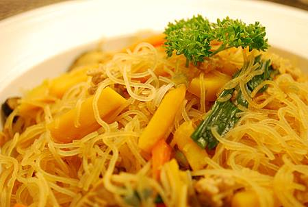 金瓜炒米粉 Fried Rice Vermicelli w/ Pumpkin