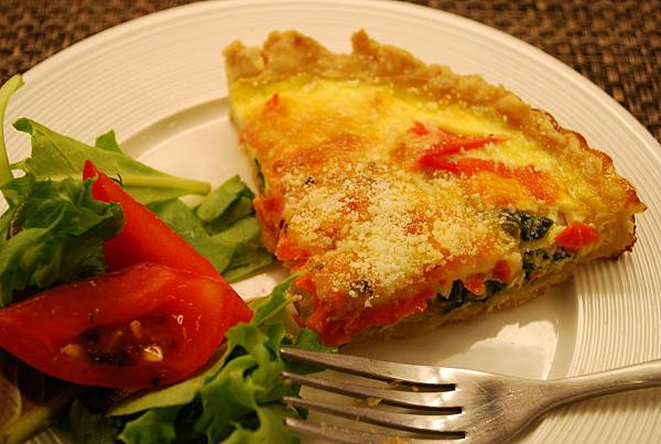 菠菜燻鮭魚鹹派 Spinach & Smoked Salmon Quiche