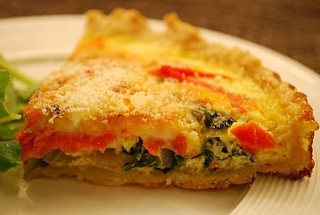 菠菜燻鮭魚鹹派 Spinach & Smoked Salmon Quiche