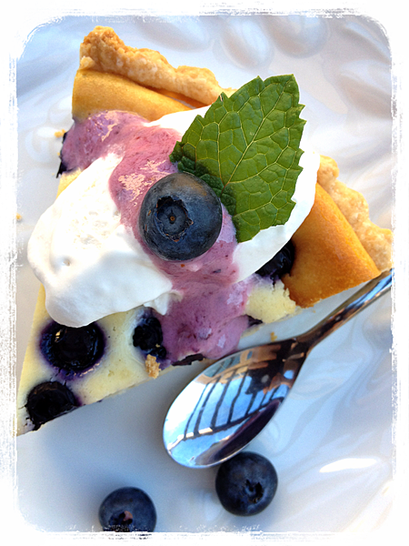 藍莓乳酪塔 Blueberry & Cream Cheese Tart