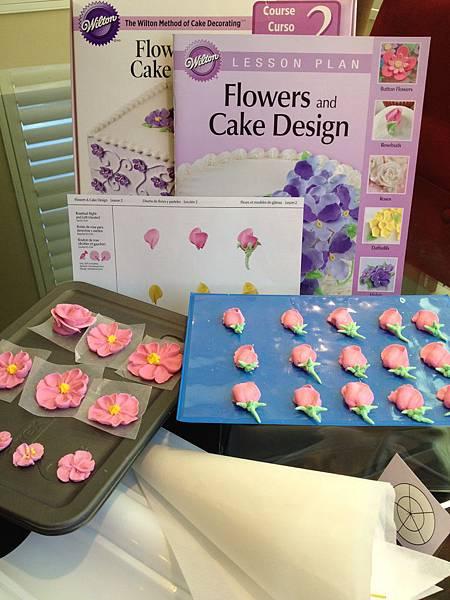 Wilton Flowers and Cake Design Course II.II 蛋糕裝飾課