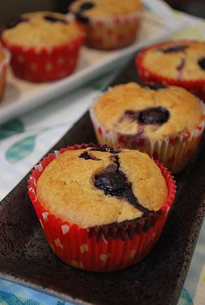 高纖低糖版香蕉藍莓瑪芬 Banana & Blueberry Muffins