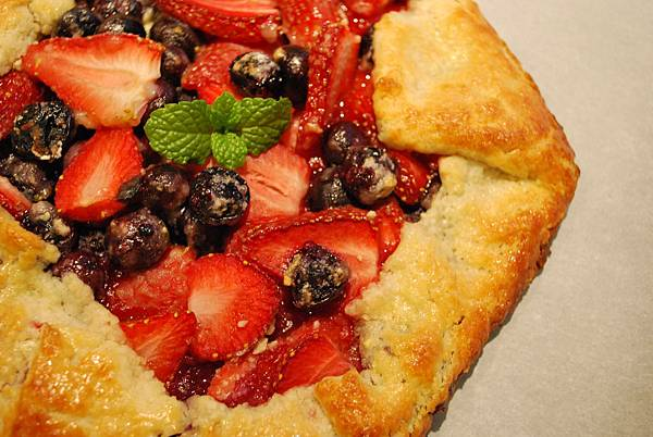 少年pie的奇幻漂流之免模型雙苺派 Strawberry and Blueberry Galette