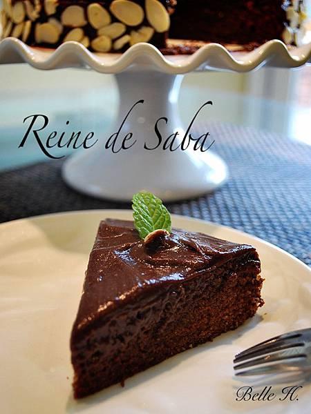 沙巴女王巧克力杏仁蛋糕 Reine de Saba by Julia Child