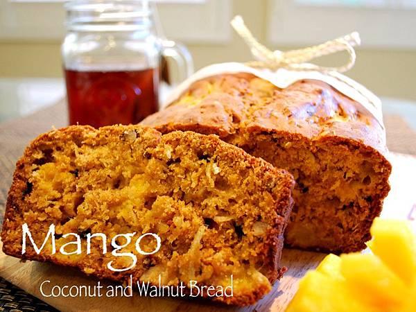 夏日搶鮮嚐之芒果椰絲核桃蛋糕 Mango, Coconut and Walnut Bread