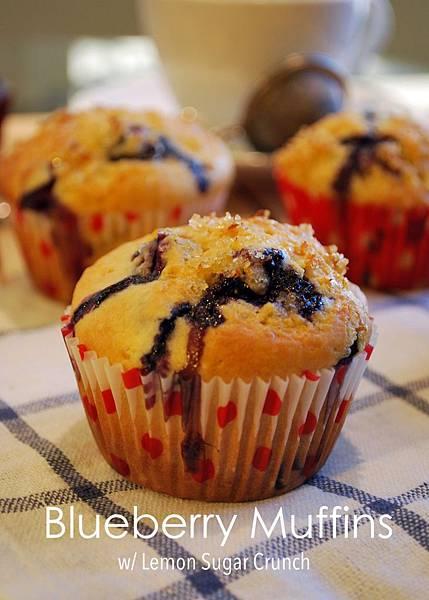 綴著檸檬香的藍莓瑪芬 Blueberry Muffins w/ Lemon Sugar Crunch