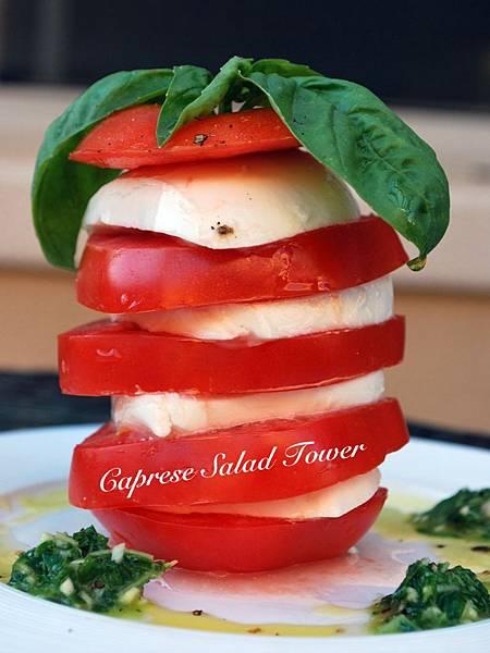 靴子國來的卡布里沙拉斜塔 Caprese Salad Tower
