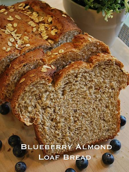 藍莓杏仁吐司麵包 Blueberry Almond Loaf Bread