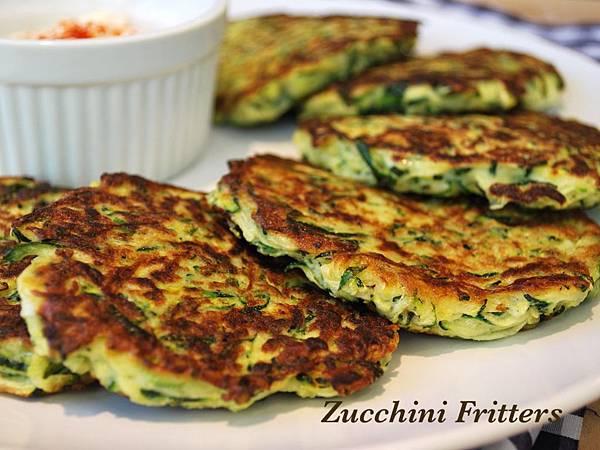 放學後點心時間:義大利櫛瓜煎餅兩吃 Zucchini Fritters
