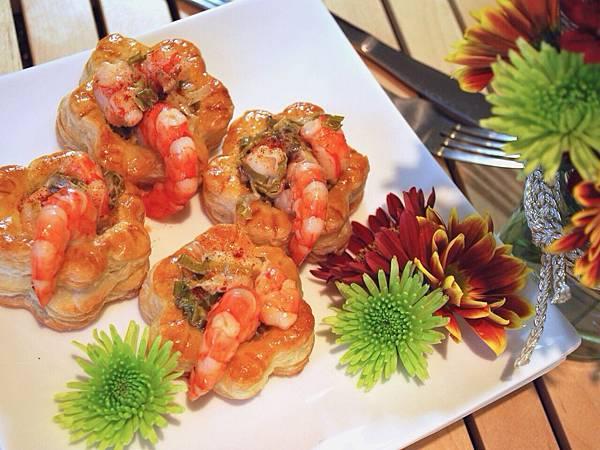 感恩節華麗開場:鮮蝦寶盒 Shrimp in Puff Pastry