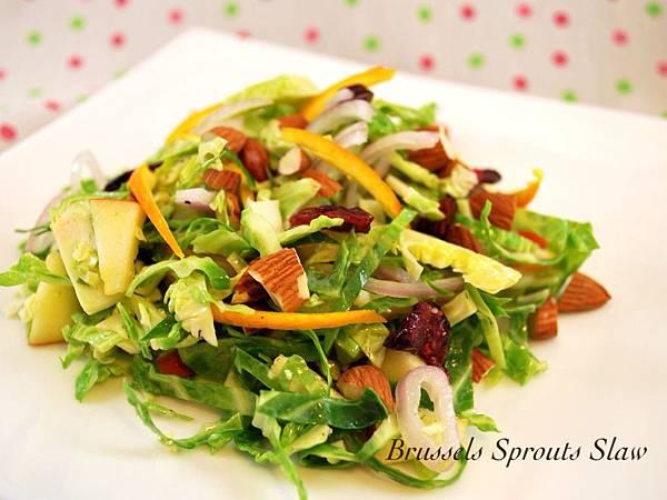 苦甜好味狼牙棒:慢烤球芽甘藍&甜脆球芽甘藍沙拉 Brussels Sprouts in 2 Ways