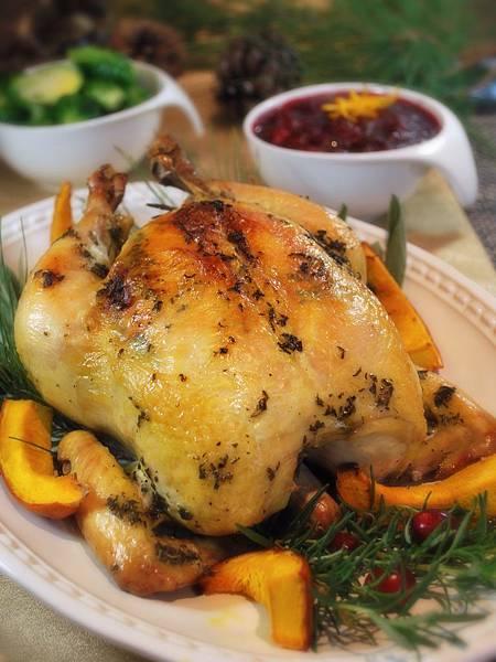 遠見網路獨享。最靚主角就是你:節慶香草烤雞佐手工蔓越莓醬 Holiday Roasted Chicken & Homemade Cranberry Sauce