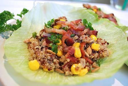 遠見網路獨享。印加藜麥小百科:藜麥生菜杯杯  Quinoa Lettuce Cups