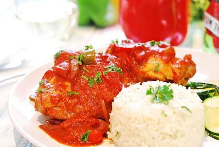 南法小館風味菜:巴斯克燉雞 Poulet Basquaise