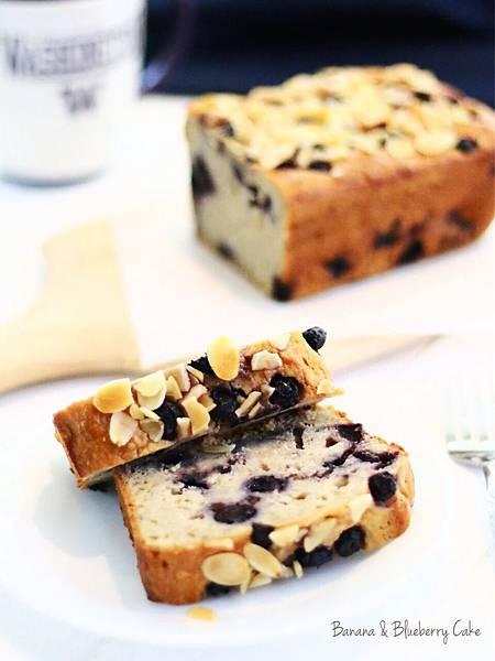 高纖低糖版香蕉藍莓蛋糕 Banana & Blueberry Cake