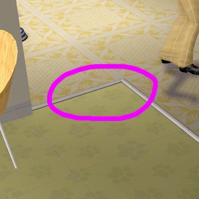 地板週邊的框框是怎麼變出來的??