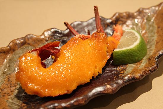 飛魚卵海膽醬烤小龍蝦.jpg