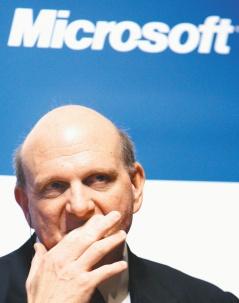 蘋果iPad風靡全球,個人電腦軟體龍頭微軟執行長鮑默爾29日也矢言Windows 7平板電腦很快就會問世。(彭博資訊).jpg
