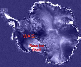 全世界最大冰棚為南極羅斯冰棚.bmp