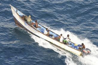 索馬利亞海盜生意頭腦一流,不但善於劫掠,還開起交易所提供搶劫融資。(路透).bmp