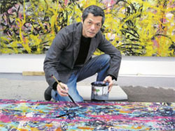 3位台灣畫家在北京,黃致陽跟時間賽跑的藝術賭局。.jpg