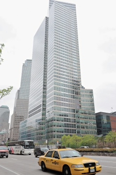 高盛弊案可能影響下周美股走勢,圖為高盛位在紐約的新總部。美聯社.jpg