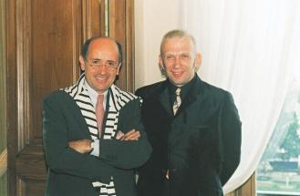 愛馬仕已故總裁杜邁(左)力邀高第耶擔任設計總監,為品牌奠定良好基礎。.jpg