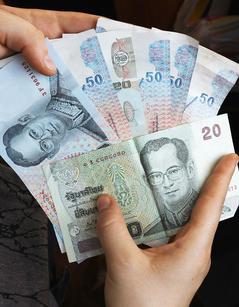 泰國政局趨穩,泰銖匯價也看漲。歐新社.jpg