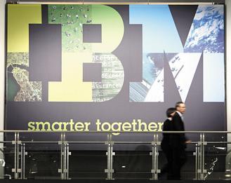 美股過去四個月勁漲,但上周行情回跌,顯示這波漲勢已出現疲態,分析師建議投資人不妨獲利了結,轉進IBM等本益比低、漲幅落後的大型科技股。(美聯社).jpg