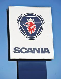 Scania正考慮與德國車商曼恩合併,力圖成為西歐最大的商用汽車製造商,擦亮Scania這塊招牌,並挑戰賓士汽車的霸主地位。(歐新社).jpg