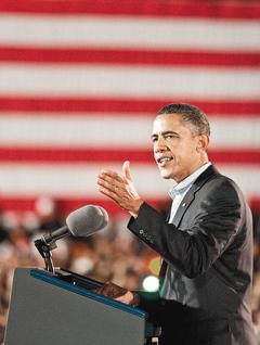 美國總統歐巴馬17日在選情關鍵的俄亥俄州助選時,特別找來備受歡迎的第一夫人密雪兒助陣,但最新民調顯示,在選舉僅剩兩周之際,歐巴馬此舉可能已回天乏術,因為兩年前支持他的選民,如今僅半數願意再投票,並有四分之一轉向支持共和黨。(歐新社.jpg